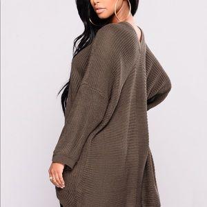 Fashion Nova Sweaters - Fashion Nova Birch Lace Up Sweater